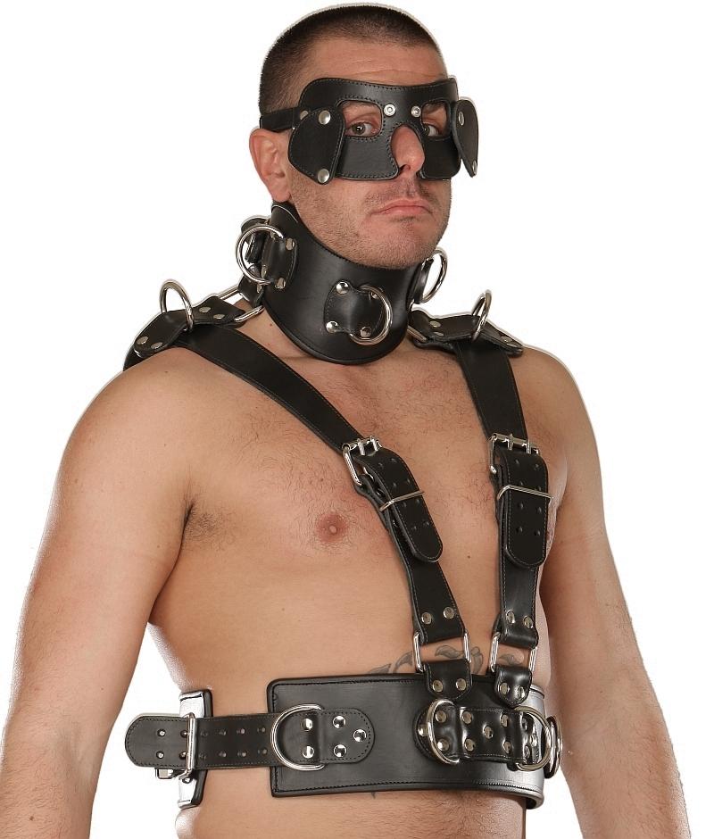 Men's sexy bondage straps tight