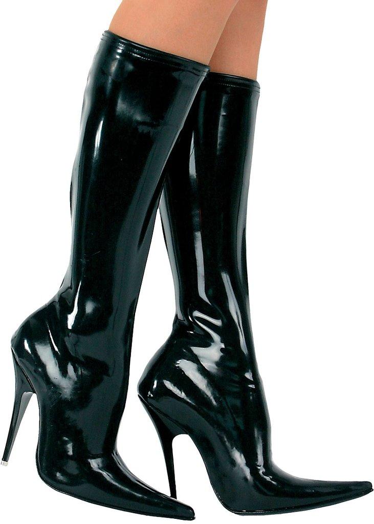 ledapol product d122g ladies high heels latex boots