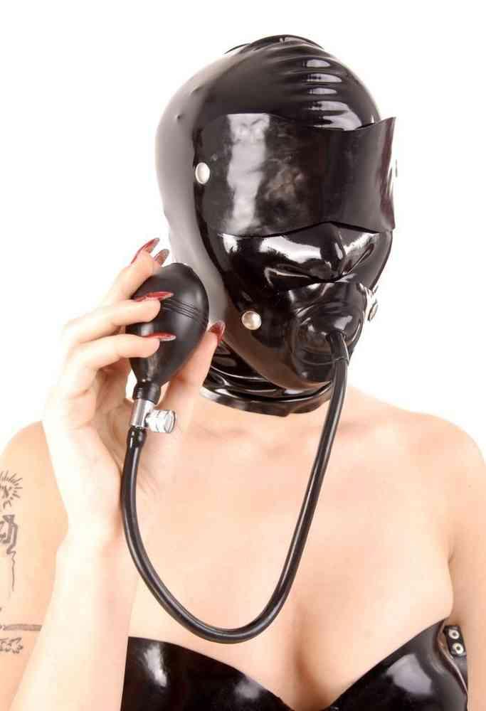 Latex maske knebel